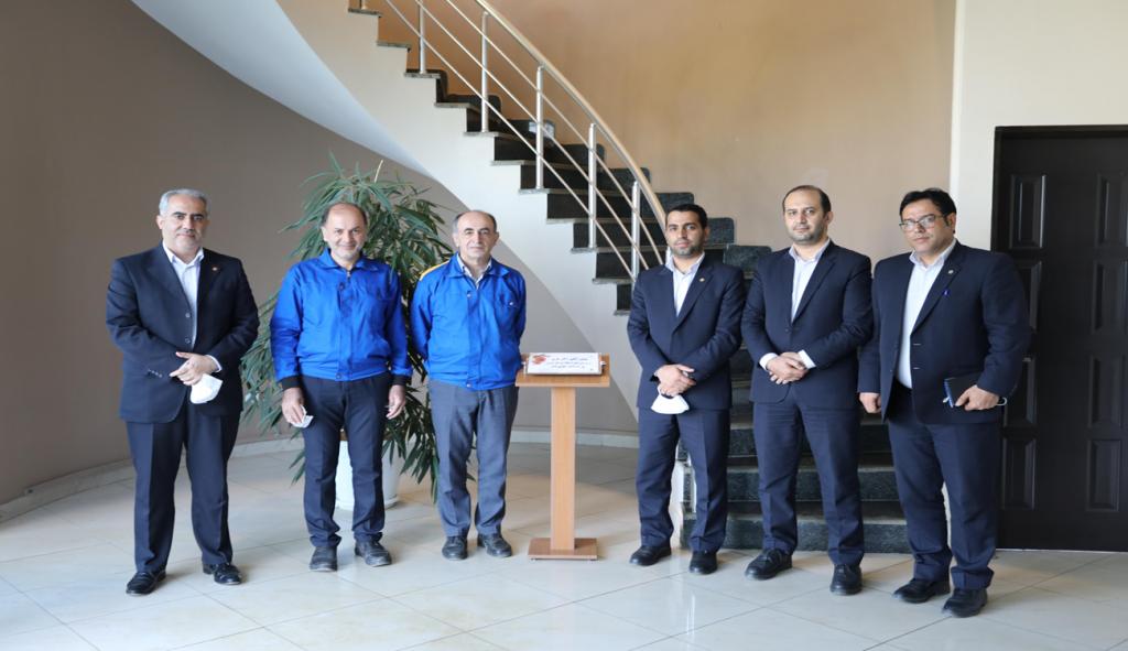 """""""Ansar"""" bank supervisor visits Negar Hak company"""
